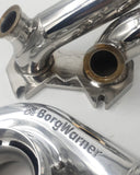 FD3S 13b Stainless Steel Manifold with CNC Flanges Twin 40mm Comp Gate