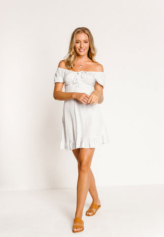 Mi Amor Off The Shoulder Mini Dress
