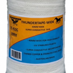 THUNDERBIRD POLY TAPE 40MM WIDE x 100M