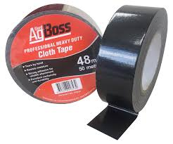Agboss black cloth tape 48mmx50m