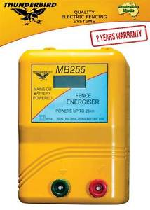 Thunderbird MB255 Mains/Battery Power Energiser 25km