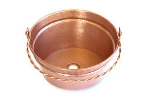 Washed Copper Finish (WC) - www.artesanocoppersinks.com