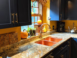 MTO - Cucina 50/50 Undermount Kitchen Sink in Washed Copper