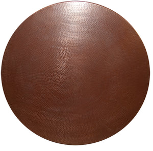 MTO - Round table top in CAFE VIEJO - www.artesanocoppersinks.com