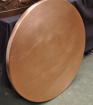 MTO - Round table top in WASHED COPPER - www.artesanocoppersinks.com