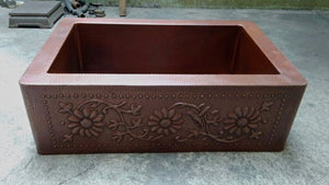 MTO - Straight apron design - www.artesanocoppersinks.com