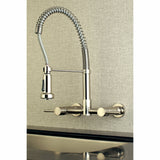 Wall Mount Kitchen Faucet in Brushed Nickel - KFGS8188DL - www.artesanocoppersinks.com