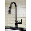 Single Handle Pull - Down Kitchen Faucet in Naples Bronze - KFGSY7776ACL - www.artesanocoppersinks.com