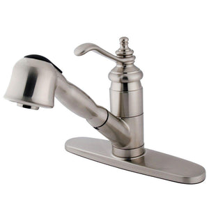 Pull - Out Kitchen Faucet in Brushed Nickel - KFKS7898TL - www.artesanocoppersinks.com