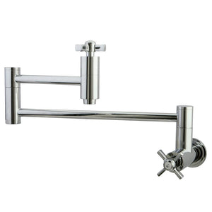 Wall Mount Pot Filler Kitchen Faucet in Polished Chrome - KFKS8101ZX - www.artesanocoppersinks.com