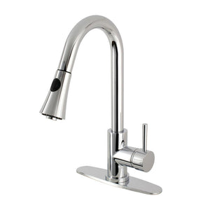Pull - Down Kitchen Faucet in Polished Chrome - KFLS8721DL - www.artesanocoppersinks.com