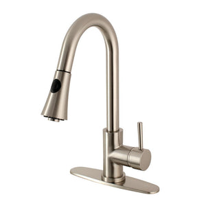 Pull - Down Kitchen Faucet in Brushed Nickel - KFLS8728DL - www.artesanocoppersinks.com