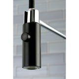 Pre- Rinse  Kitchen Faucet in Matte Black and Chrome - KFLS8777CTL - www.artesanocoppersinks.com