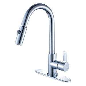 Single Handle Pull - Down Kitchen Faucet in Polished Chrome - KFLS8780CTL - www.artesanocoppersinks.com