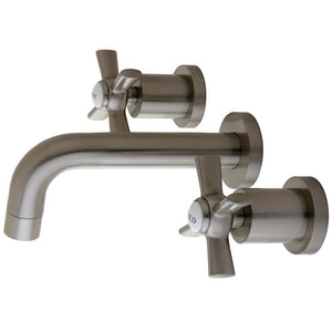 Wall Mount Bathroom Faucet in Brushed Nickel - BFKS8128ZX - www.artesanocoppersinks.com