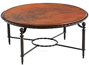 MTO - Round copper table - www.artesanocoppersinks.com