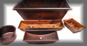 MTO sinks in CV and NA finishes - www.artesanocoppersinks.com