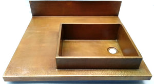 MTO - Bath sink in DC - www.artesanocoppersinks.com