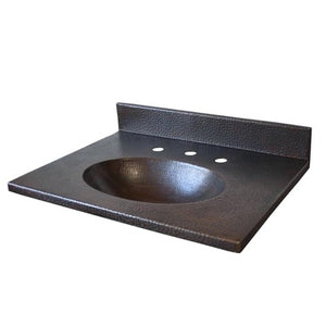MTO - Vanity sink in BC - www.artesanocoppersinks.com