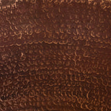 "Copper Tile - 4 x 4 x 0.25"" - TI030SC in SANDED COPPER finish (Plain). - www.artesanocoppersinks.com"