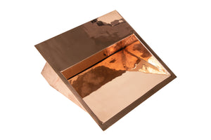 "RECTANGULAR Undermount Bathroom Copper Sink in SMOOTH Polished Copper - 22 x 19 x 6"" - VS051PC"