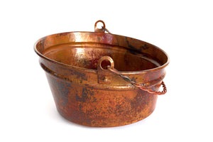 "BUCKET # 2 in Natural - VS028NA - Round Vessel Bathroom Copper Sink - 16 x 8"" - Gauge 16 - www.artesanocoppersinks.com"