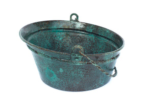 "BUCKET # 2 in Oxidized Copper - VS028OC - Round Vessel Bathroom Copper Sink - 16 x 8"" - Gauge 16"