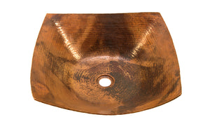 "DEGAS in Natural - VS007NA - Square Vessel Bathroom Copper Sink - 18 x 18 x 5.5"" - Thick Gauge 14"