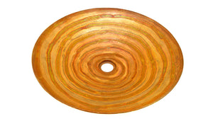 "NACHTWEY in FUEGO - VS016FU - Round Flat Vessel Bathroom Copper Sink - 19.5 x 3"" - Thick Gauge 14 - www.artesanocoppersinks.com"