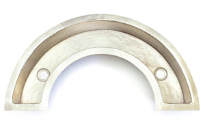"TUSCANY in Brushed Nickel - BP007BN -  Horseshoe Shape Under Mount Bar Copper Sink with 1.5"" Flat Rim - 40 x 21 x 6"" - Gauge 16"