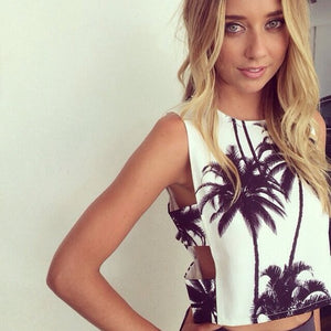 Palm Tree Crop Top