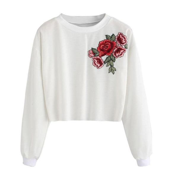 Rose Emboridered Sweatshirt