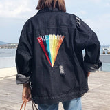 Freedom Black Denim Jacket
