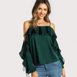 Lace Satin Blouse