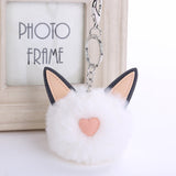 Kitty Cat Fluffy Pom-Pom Key Chain Accessory