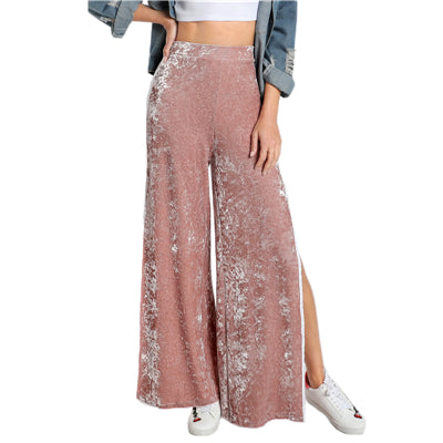 Velvet Side Split Pants