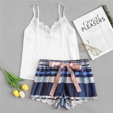 Plaid Shorts Pajama Set