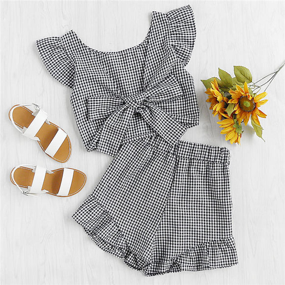 Gingham Two-Piece Set