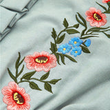 Floral Embroidered Pocket Dress