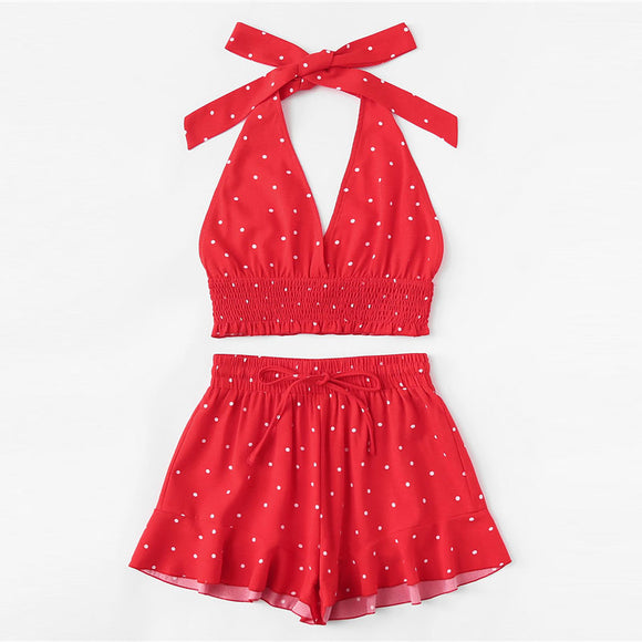 Red Polka Dot Set