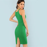 Green Halter Dress