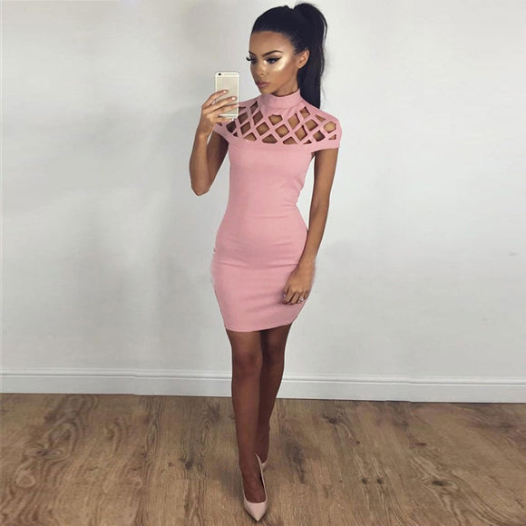 Hollow Out Body Con Dress