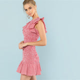 Hot Pink Gingham Dress