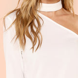 White Chocker Top