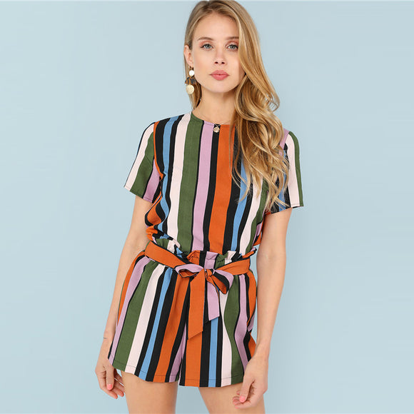 Multicolor Striped Set