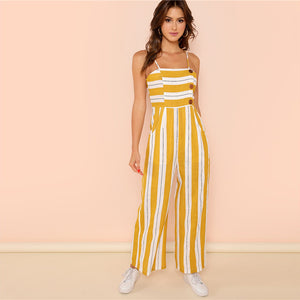 Ginger Striped Jumpsuit