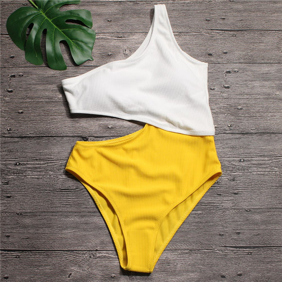 Cut Out One-Piece Bathing Suit