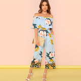 Baby Blue Sunflower Jumpsuit