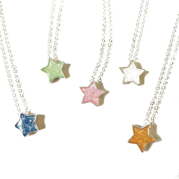 Rainbow Star Necklaces