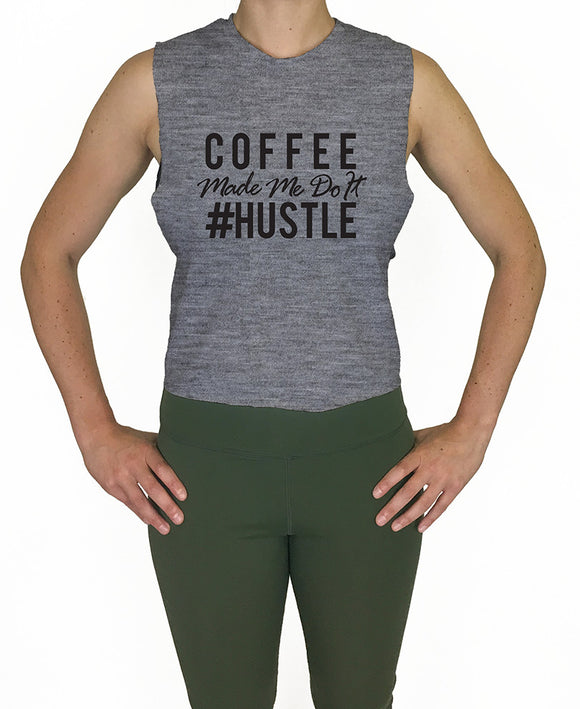 Coffee and Hustle Crop Tank